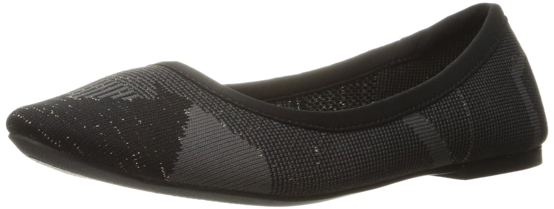 Skechers Cleo Wham Ballet Flat 6.5 C/D US|Negro/Carbón