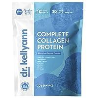 Hydrolyzed Collagen Peptides Protein Powder Unflavored - Grass Fed Paleo & Keto Collagen Supplement - Non-GMO, Gluten Free, Dairy Free, Soy Free - Protein 18g, 20g Collagen (30 Servings 1.3lbs)