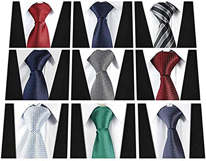 Lot of 12 Polyester Woven Neck Tie necktie black paisley prom wedding uniform