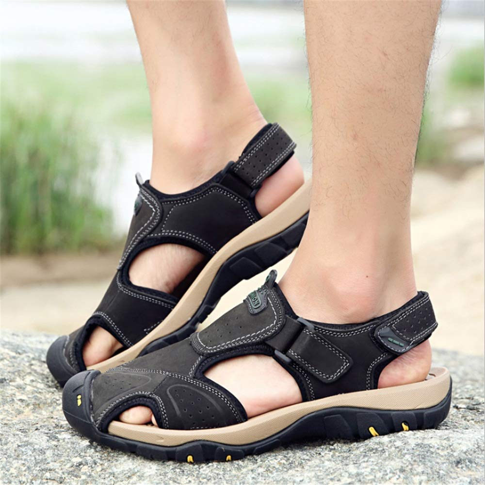 Wangcui Herren Sandalen Sport Casual Beach Schuhe Atmungsaktive : Schuhe (24,0-27,5) cm (Farbe : Atmungsaktive Schwarz, Größe : 42 EU) Schwarz b9f1cb