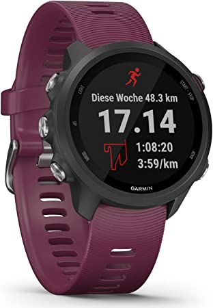 Garmin Forerunner 245 Gps Running Watch With Individual Training Plans Special Running Features Detailed Training Analysis 3 Cm Colour Display Battery Life Up To 7 Days Waterproof Black Sport Freizeit
