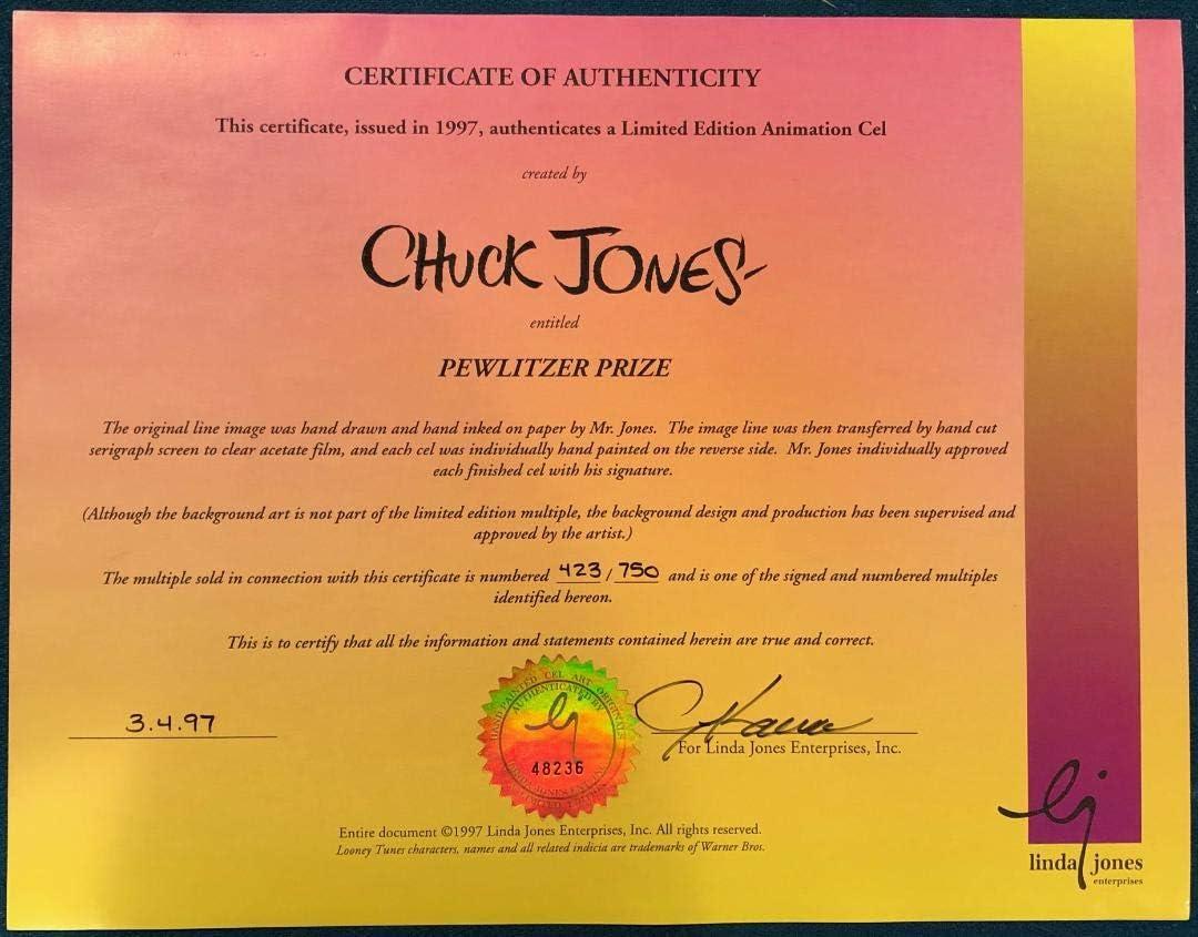 Details about  /CHUCK JONES LE PURSUIT PEPE LEPEW ANIMATION CEL SIGNED #644//750 W//COA