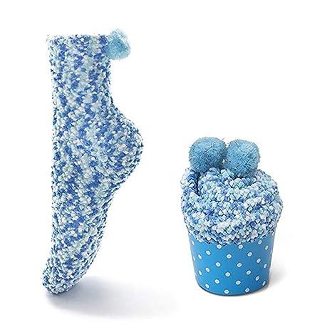 Yaogroo Calcetines de Microfibra para Mujer Fuzzy Warm Thick | Calcetines de la Torta y Colorido