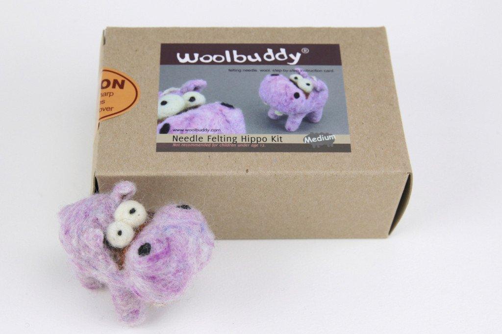 Woolbuddy Needle Felting Hippo Kit