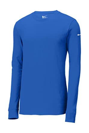 info for c3c30 f5cac Nike Core Cotton Long Sleeve Tee BQ5232 (Small, Game Royal)