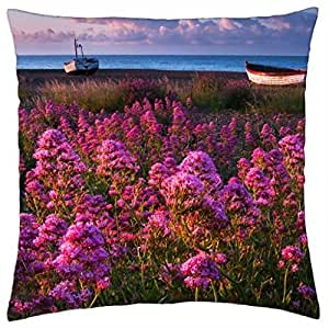 Coast of Flowers - Throw Pillow Cover Case (18