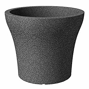 Scheurich Jardinera No1Stone, 48cm negro granito
