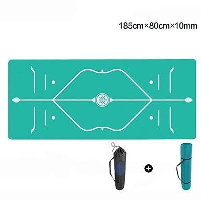 ERRU- Tapis de Yoga Élargir 80 cm Fitness Pilates couverture étendue et épaisse ligne corps tapis d'exercice tapis 10mm anti-dérapant débutants tapis de yoga couleur en option, 183 * 66 cm (