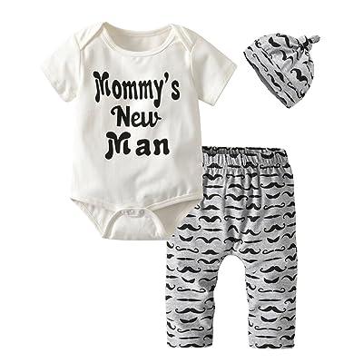 Details about  /3Pcs//Set Newborn Kids Baby Boy Tops Pants Hat Clothes Gentleman Outfits Romper