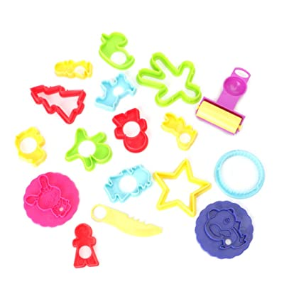 jinetor Mixed Plastic Plasticine Clay Dough Cutters Moulds Childrens Modelling Tools Random delivery: Home & Kitchen