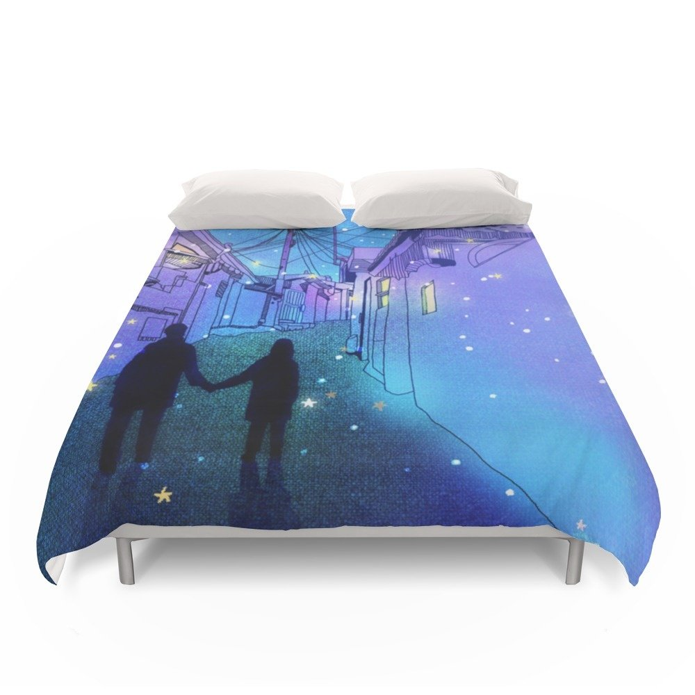 Society6 Every Day With You Duvet Covers Full: 79'' x 79''