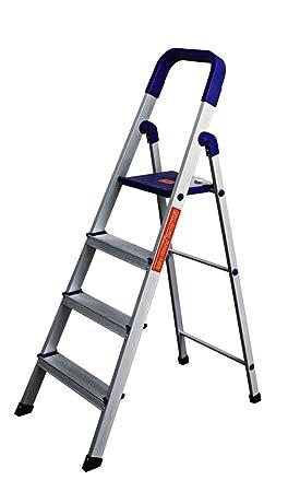 Truphe Aluminium 4 Step Ladder Home Pro 4 Step + 7 Year warranty