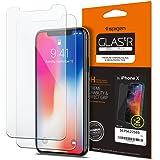 Spigen 2Pack Protection ecran iPhone X, Easy-Install Kit, Verre Trempé iPhone X, Extreme Résistant aux rayures, Vitre iPhone X, Ultra Claire, Film protection iPhone X, Film iPhone 10 (057GL22565)
