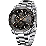 BENYAR Reloj cronógrafo para Hombre Movimiento de Cuarzo Fashion Business Sports Watch 30M Impermeable Elegante Regalo…