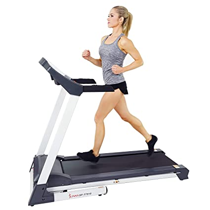 6d7393ffdd2fa Sunny Health & Fitness SF-T7515 Smart Treadmill with Auto Incline,  Speakers, Bluetooth, LCD and Pulse Monitor, Phone Function, 250 LB Max  Weight
