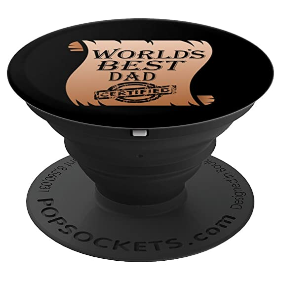 amazon com funny world s best dad certificate popsockets grip and