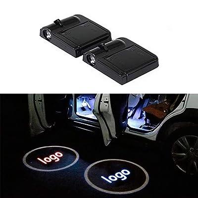 Car Door Lights Projector, Universal Wireless Car Door Shadow Light Welcome Light Laser Emblem Logo Lamps Kit by FLYEEGO (2PCS): Automotive