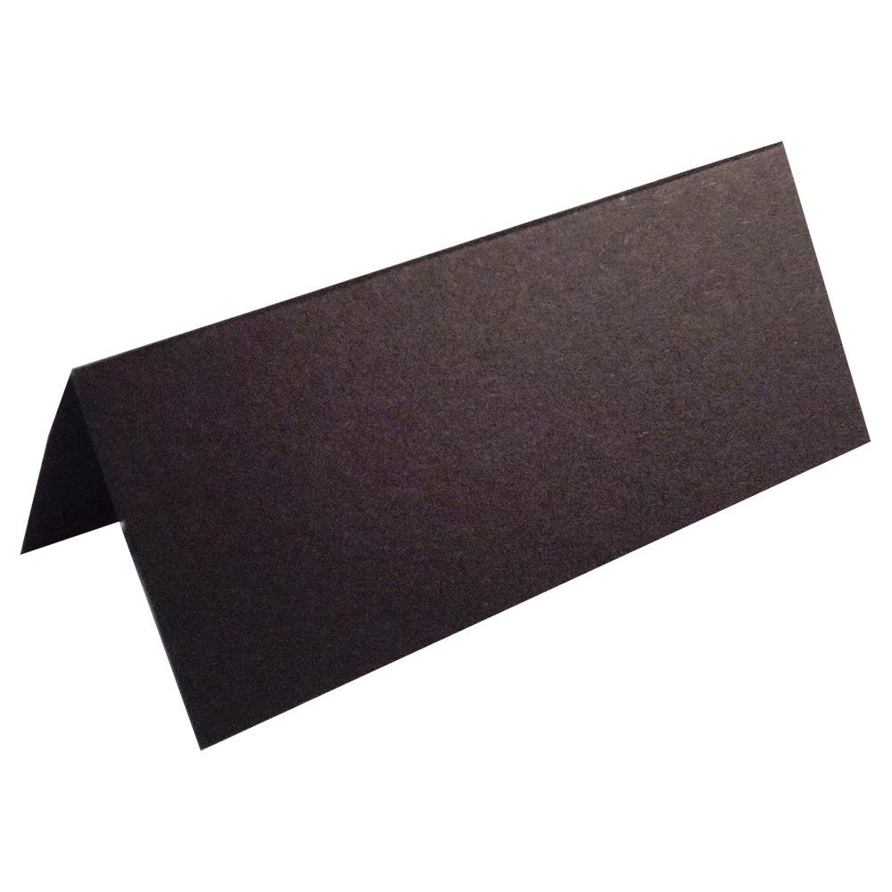 100 x Black Blank Wedding Table Name Place Cards - UK Card Crafts
