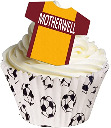 24 FOOTBALLERS FOOTBALL WAFER RICE PAPER EDIBLE FAIRY//CUPCAKE TOPPERS