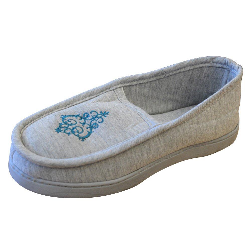 BUYITNOW Women's Diabetic Slippers Memory Foam Moccasin Slippers
