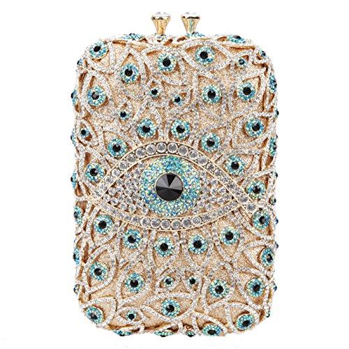 Fawziya Eye Shape Purses And Handbags Wholesale Bags For Girls-Green