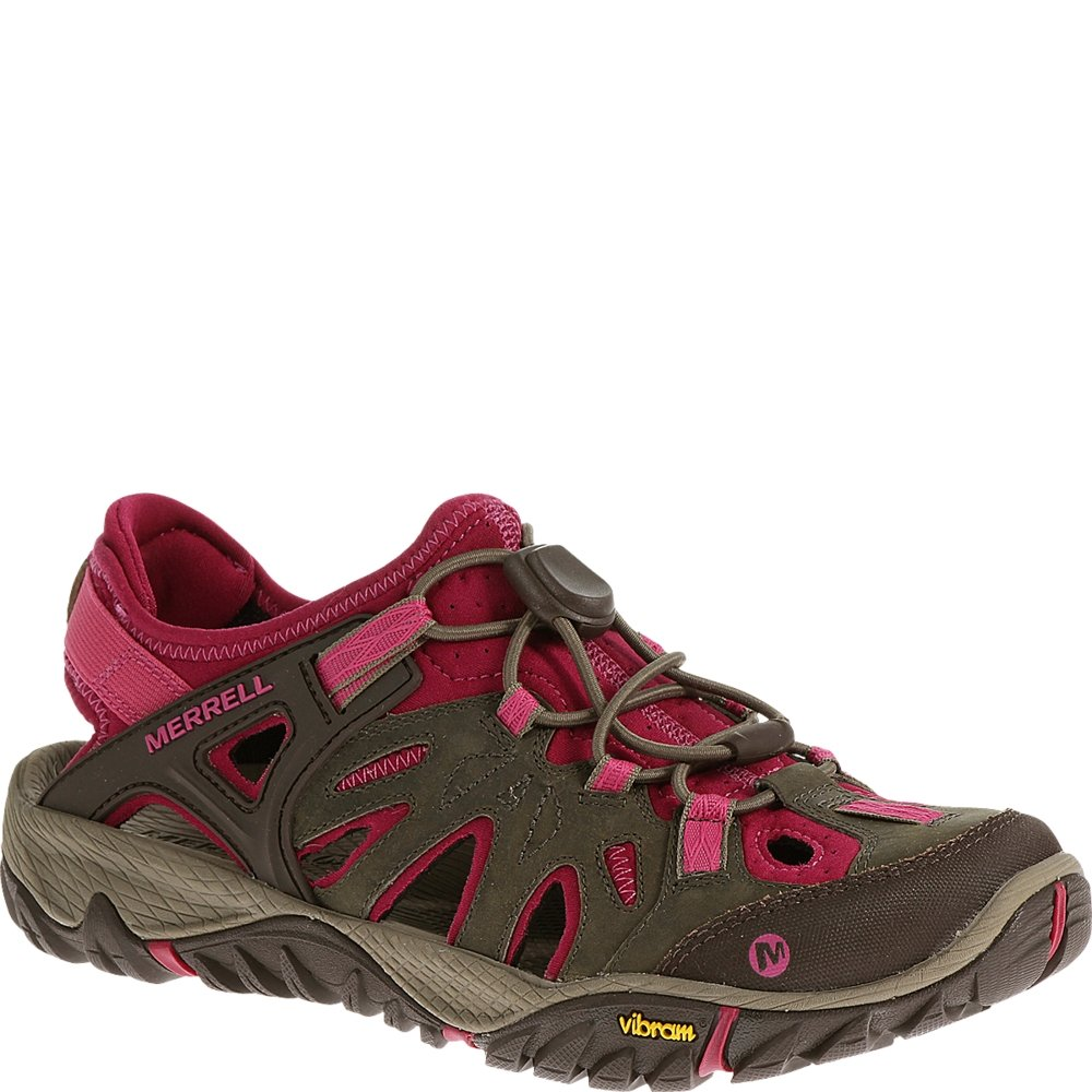 Merrell Women's All Out Blaze Sieve Water Shoe, Boulder/Fuchsia, 8 M US by Merrell