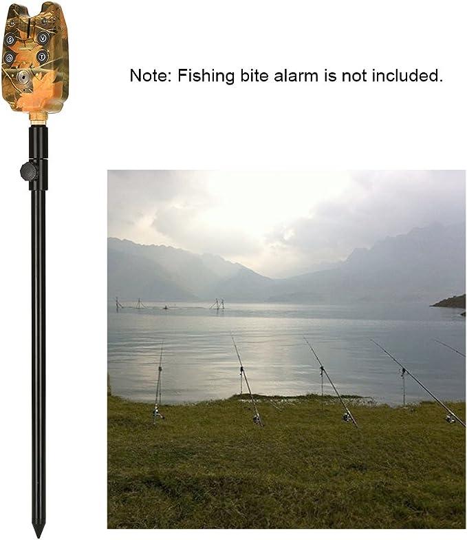 Lixada Carpa de Pesca Ajustable Palo Banco Extendiendo Aleaci/ón de Aluminio Fish Rod Pod Resto para Alarma de Mordida