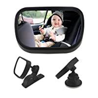 Bystep WisFox Baby Car Mirror Child Car Rear View Mirror for Baby and Mom Rear Facing View Adjustable (small)