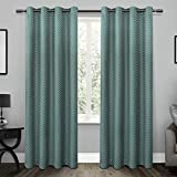 Exclusive Home Curtains Chevron Thermal Blackout Grommet Top Window Curtain Panel Pair, Teal, 52×96 Review
