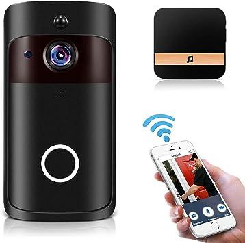 OWSOO 1080P Timbre de Video WiFi Inalámbrico, Soporta Control ...