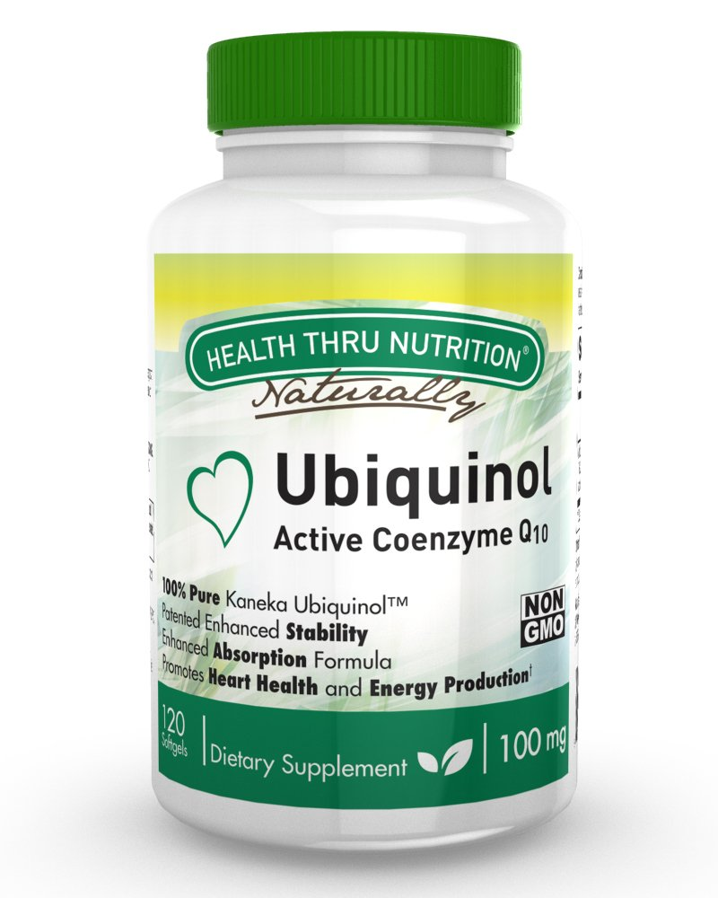 Ubiquinol 100mg 120 Softgels (Soy-Free) (NON-GMO) EAF CoQ10 (Enhanced Absorption Formula Coenzyme Q10 as Kaneka Ubiquinol)