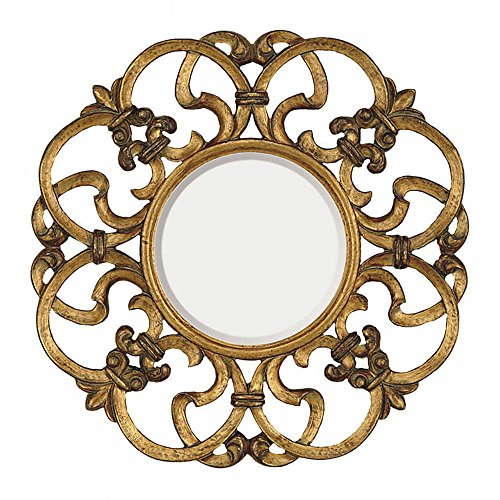 Traditional Round Bevel Wall Mirror by Majestic Mirror