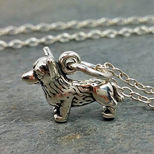 Tiny Welsh Corgi Necklace - 925 Sterling Silver