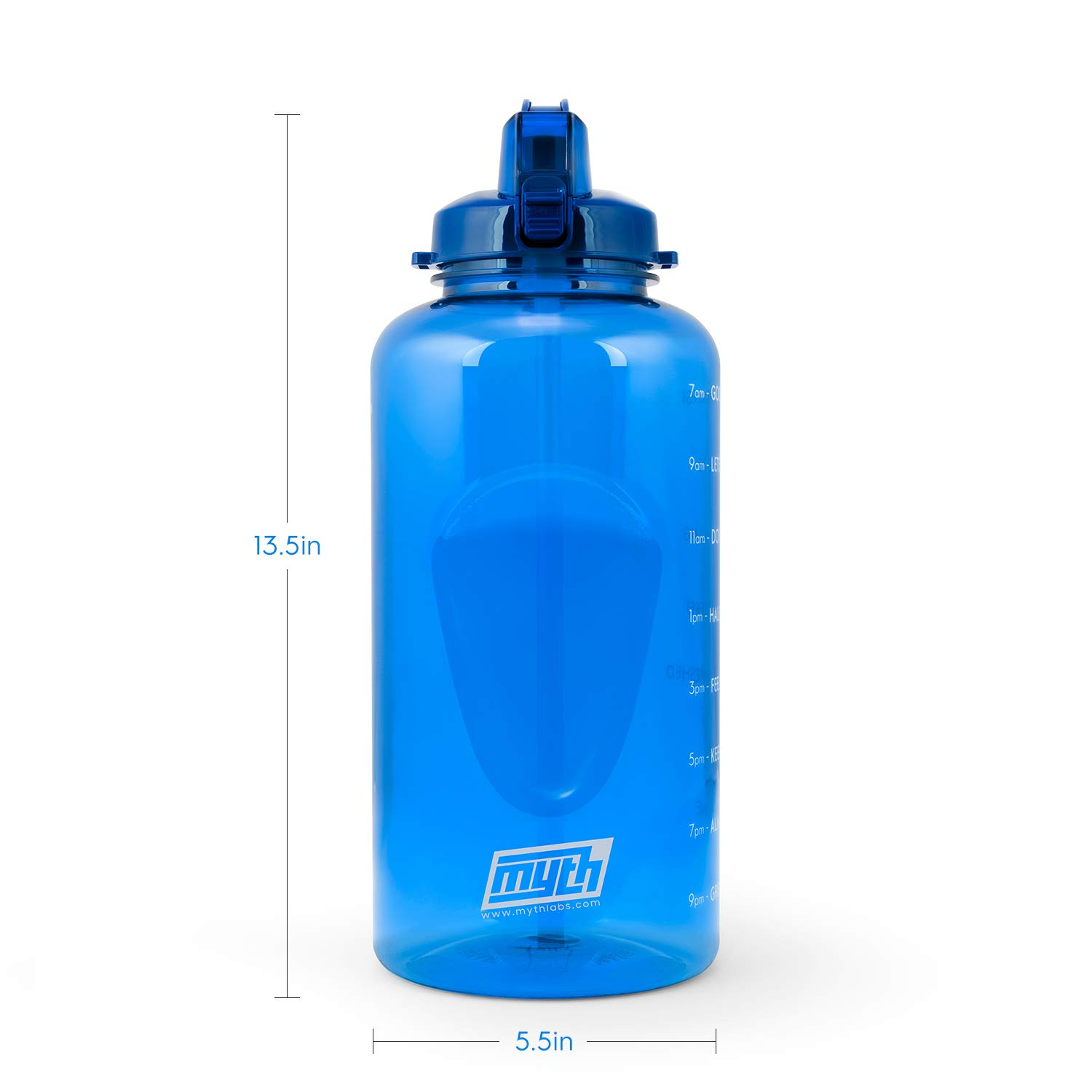 1 Gallon Water Bottle with Time Marker Myth Motivational Gallon Water Bottle with Straw BPA Free Water Bottle