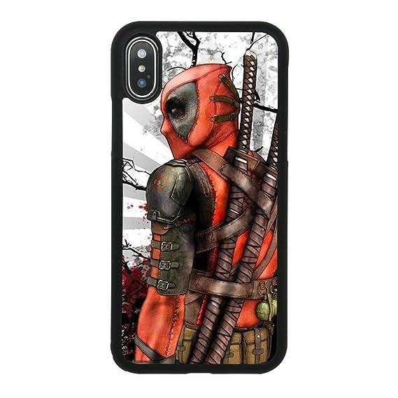 Amazon.com: Ninja Deadpool Fan Art Case for iPhone X, iPhone ...