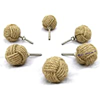 Jute Hardware Drawer knob Pull Handles, Cabinet Drawer Pulls Cupboard Knobs with Screws for Home Office Cabinet Cupboard…