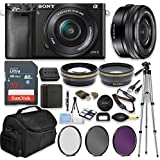 Sony Alpha a6000 Mirrorless Digital Camera (Black) with 16-50mm Lens Professional Kit + 32 GB Sandisk Memory + Filters + Deluxe Bag + Auxiliary Lenses + Accessories