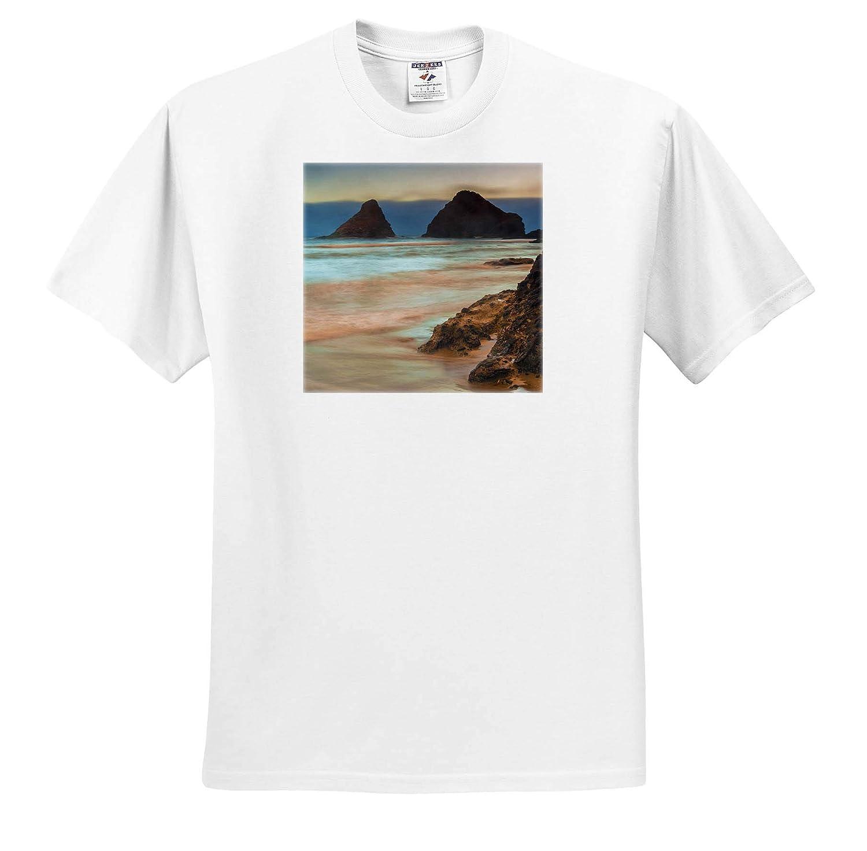 Florence USA 3dRose Danita Delimont Oregon ts/_314967 Oregon Sunrise on Heceta Beach - Adult T-Shirt XL
