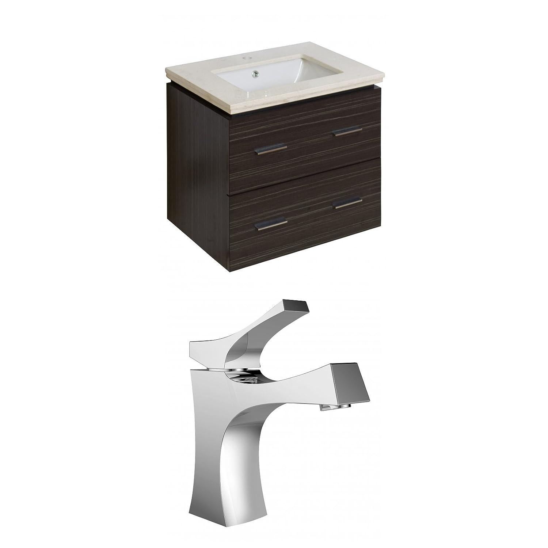 """50%OFF Jade Bath JB-8385 24"""" W x 18"""" D Plywood-Melamine Vanity Set with Single Hole CUPC Faucet, Dawn Grey"""