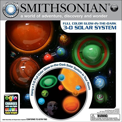 Amazing Smithsonian 3D Glow In The Dark Solar System