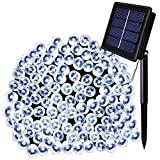 Image of Solar Powered String Lights ,Solarmks Solar Lights Outdoor 200 LED 72ft, Ambiance Lighting for Garden, Patio and Holiday Decorations (White)