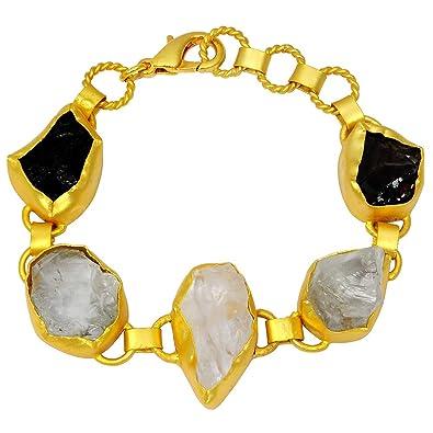 65 Ctw Crystal Quartz 925 Sterling Silver Bracelet Amethyst Stone Jewelry Amethyst Jewelry Smoky Quartz /& Green Amethyst Bracelets By Orchid Jewelry February Birthstone