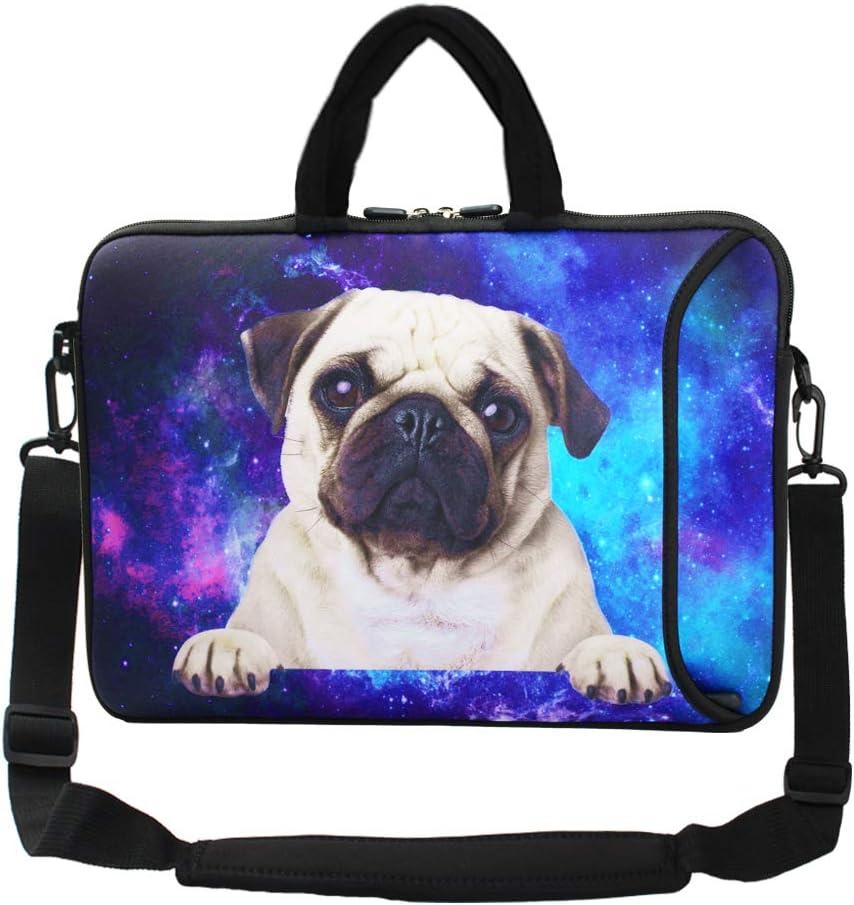 """Violet Mist 13""""15""""15.6""""Neoprene Laptop Sleeve Bag Waterproof Sleeve Case Briefcase Pouch Bag Adjustable Shoulder Strap External Pocket for Men Women(11"""