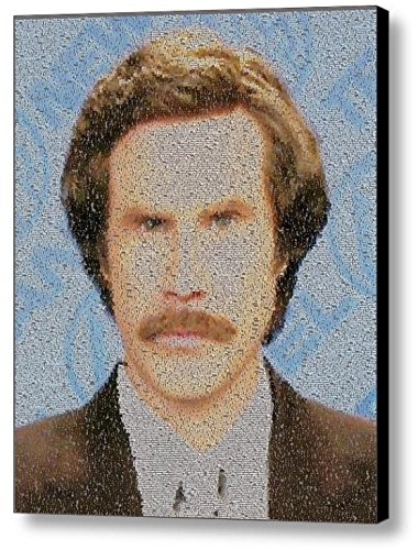 Amazing Anchorman: The Legend of Ron Burgundy Quotes Mosaic Framed 9X11 Limited Edition Art COA