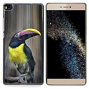 """For Huawei Ascend P8 (Not for P8 Lite) Case , Tucan Yellow Bird Ornitología Especies"""" - Diseño Patrón Teléfono Caso Cubierta Case Bumper Duro Protección Case Cover Funda"""
