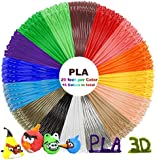 PLA 3D Pen Filament Refills - Dikale 3D Printing Pen Filament 1.75mm Including 16 Different Colors, 20 Feet Per Color, 320 Feet in Total for Scribbler, Soyan, Manve, MYNT3D, Dikale, TIPEYE 3D Pen