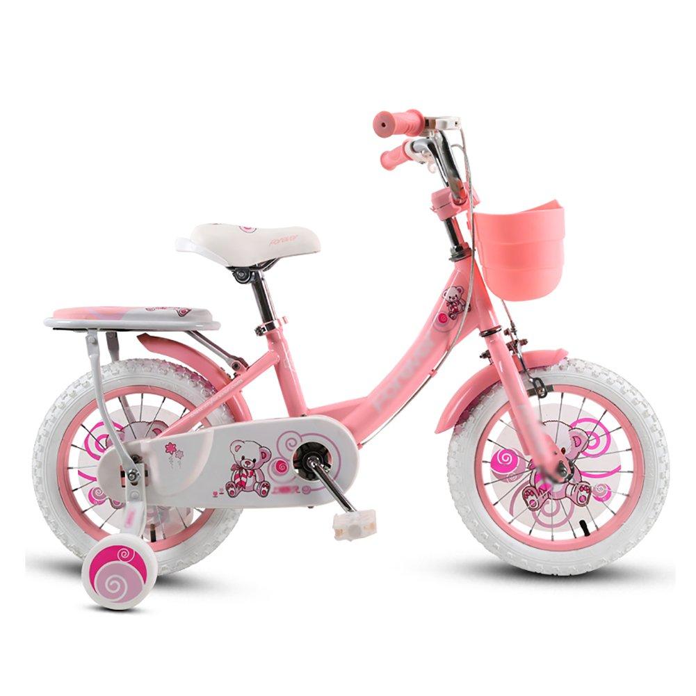 Bicicletas para niños Niños Y Niñas Ciclismo 3-4-6-8 Años Cochecito De Bebé 12 14 16 18 Pulgadas Aleación De Aluminio Mountain Bike Rosa (Tamaño : 12 Inch)