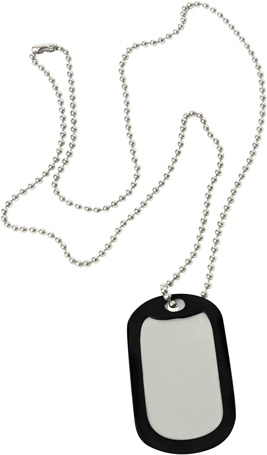 Amazon.com: Rothco Stainless Steel Military Dog Tag Set With Dog Tag, Chain  & Silencer: Clothing