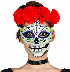 NET TOYS Antifaz Sugar Skull Máscara Mexicana de Muertos Halloween ...