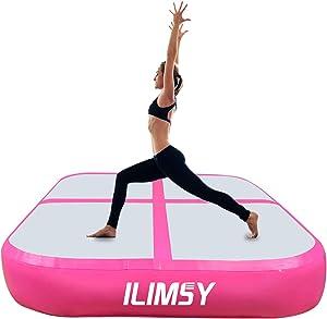 ILIMSY Air Track Inflatable Tumbling Mat Air Barrel Roller Gymnastics Mat Air Spot Air Block for Home Use/Training Cheerleading/Yoga/Martial Arts/Acrobatics